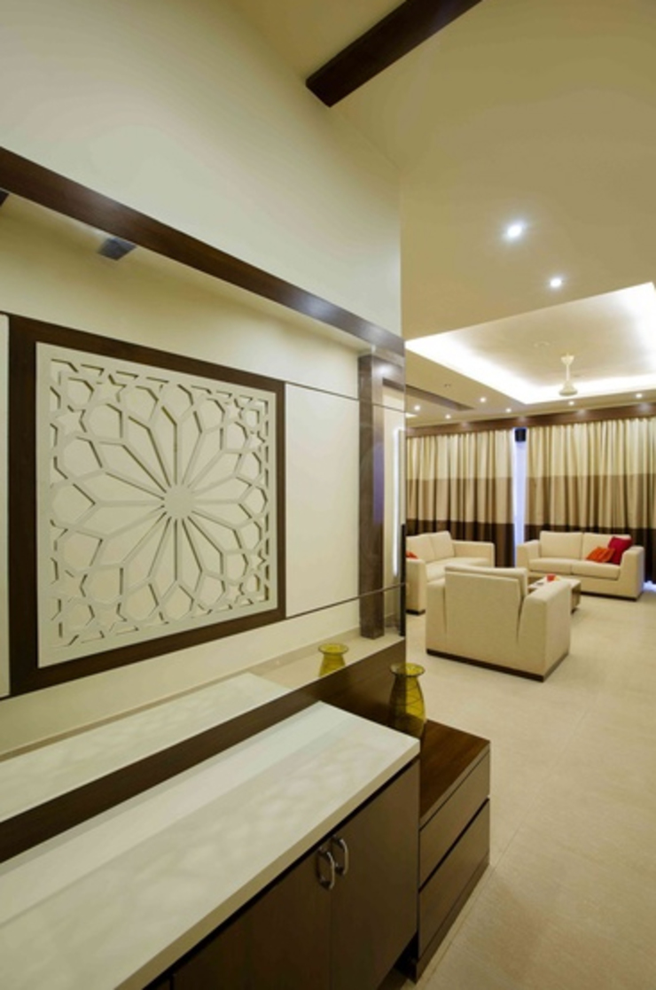 3BHK_ Mr.Narayana Rao_ Parrys Interior Decoration_ Site photos Modern Corridor, Hallway and Staircase by Arcmen kitchens And Interiors Modern