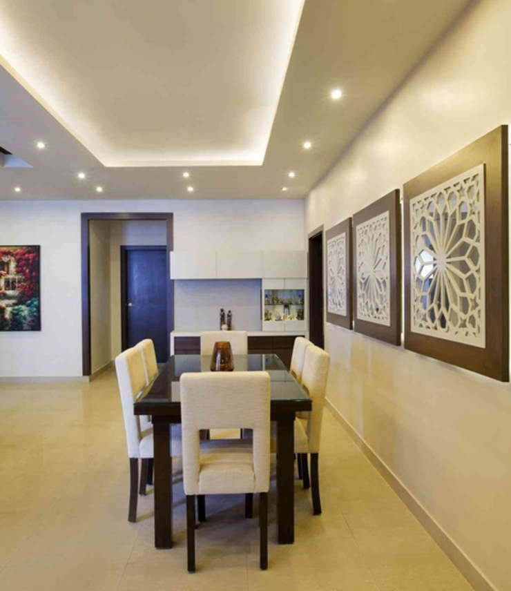 3BHK_ Mr.Narayana Rao_ Parrys Interior Decoration_ Site photos Modern Dining Room by Arcmen kitchens And Interiors Modern