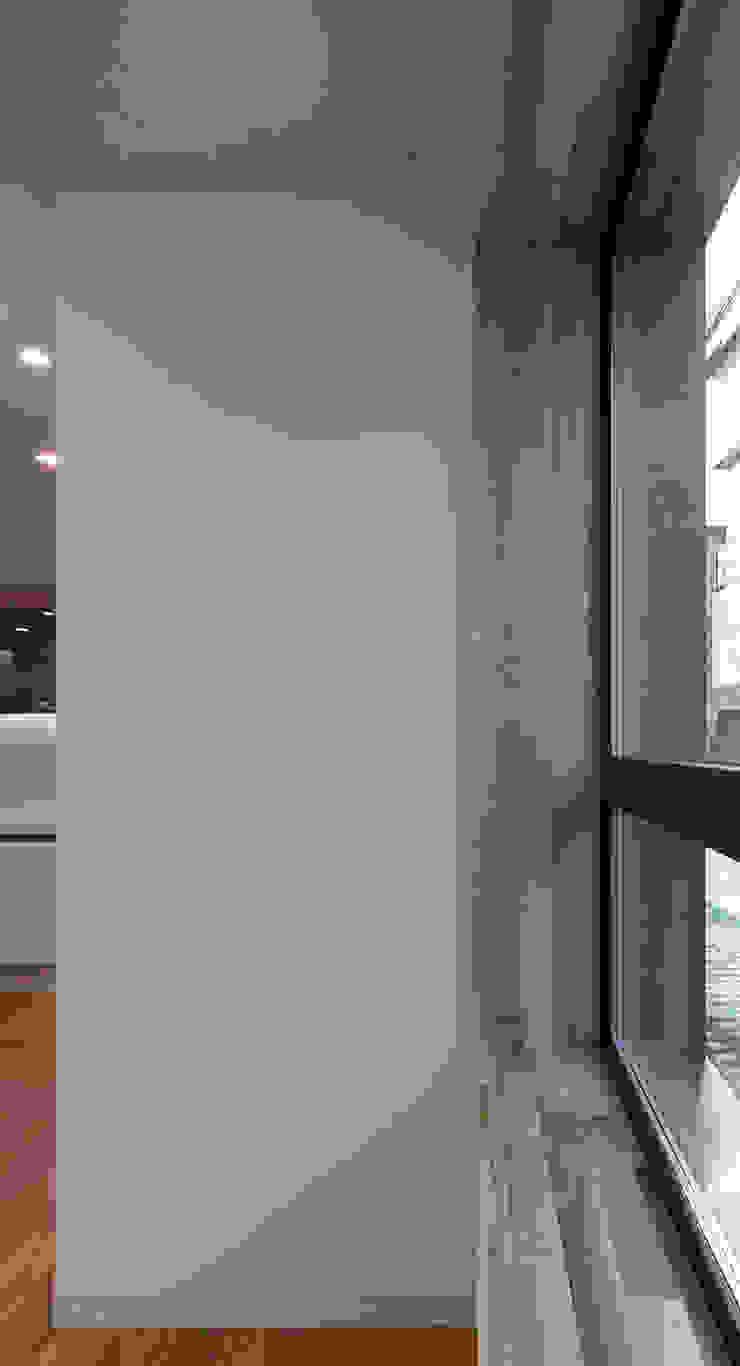 세곡동 3가구 주택 모던스타일 창문 & 문 by 틔움건축 모던