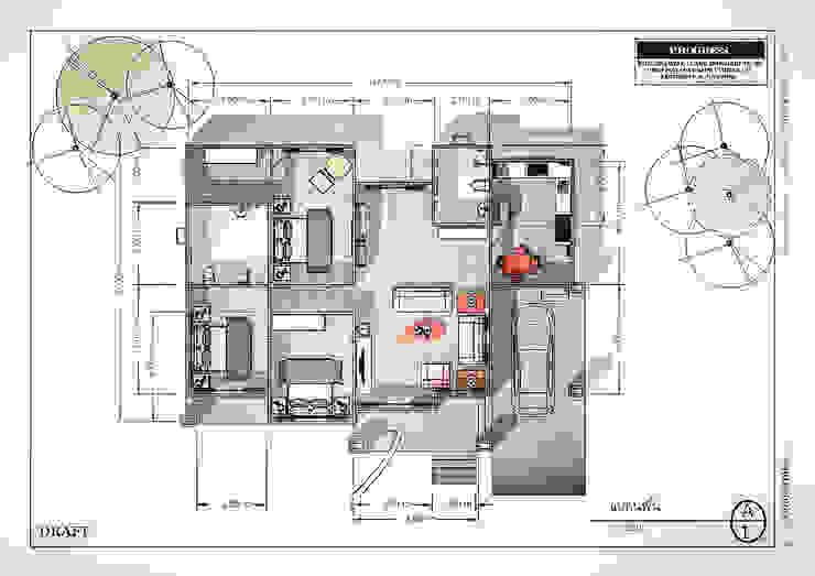 แปลน ทางเดินในสไตล์เขตร้อนห้องโถงและบันได โดย แบบบ้านออกแบบบ้านเชียงใหม่ ทรอปิคอล กระเบื้อง