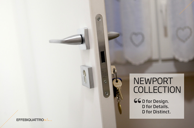 Porta Newport bianca battente di Effebiquattro S.p.A. Moderno Legno Effetto legno