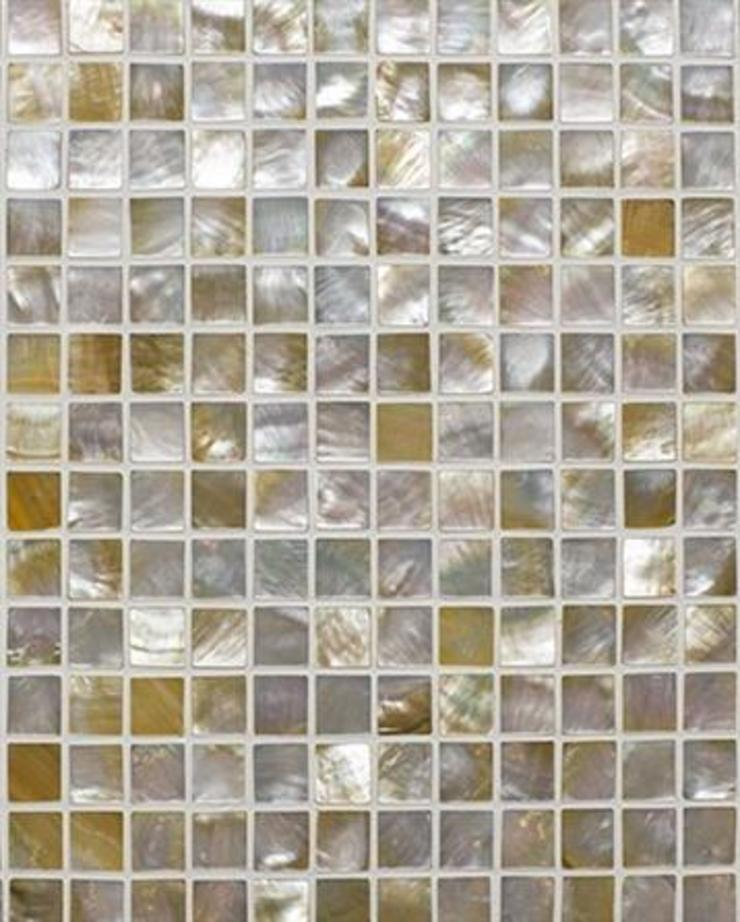 Champagne Mother of Pearl Mosaic Tiles Finwood Designs Paredes y pisosBaldosas Multicolor