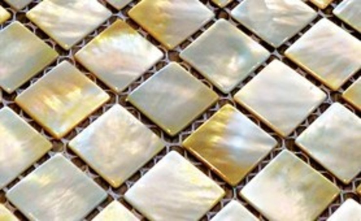 Champagne Mother of Pearl Mosaic Tiles Finwood Designs Paredes y pisosBaldosas