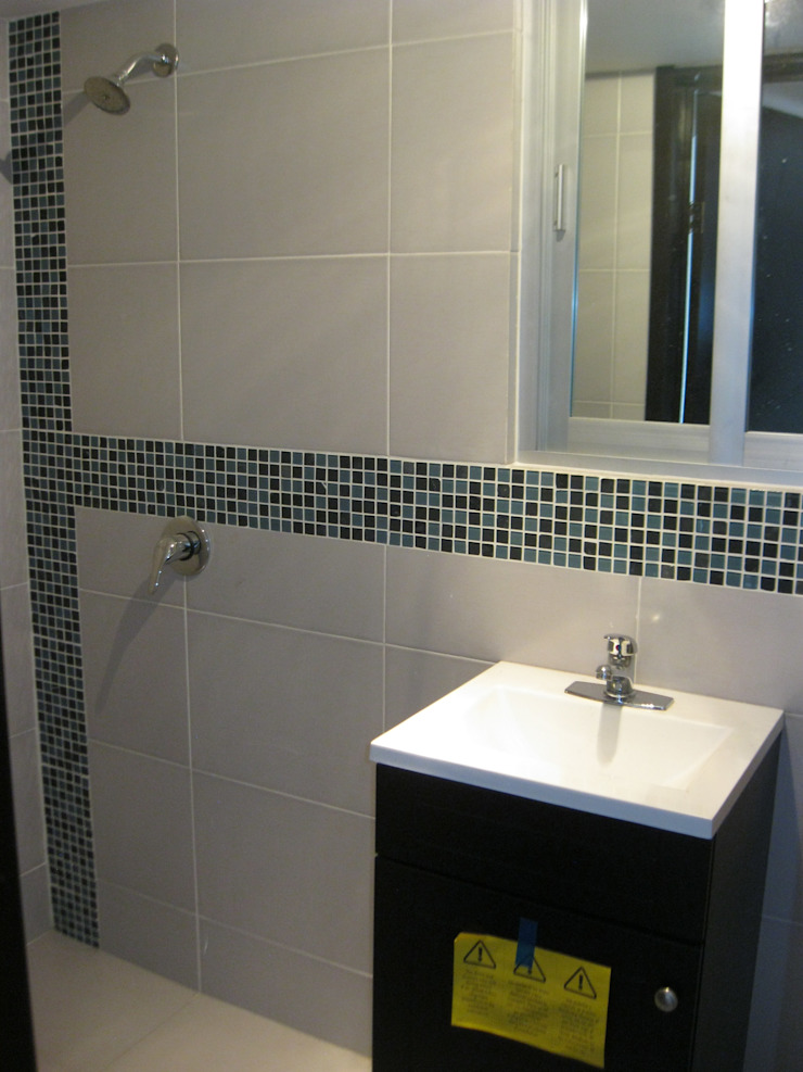 Fixing Modern Bathroom Tiles Multicolored