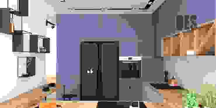 OES architekci Cuisine intégrée Cuivre / Bronze / Laiton Bleu