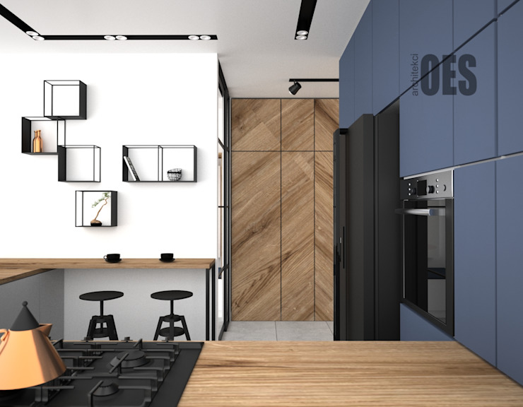 OES architekci Built-in kitchens Wood Wood effect