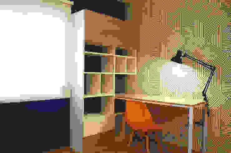 Departamento en Barrio Chateau Habitaciones de estilo ecléctico de Da! Diseño de Interiores Ecléctico