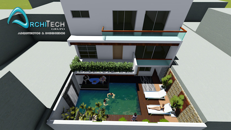 Rumah Modern Oleh Architech Tacna Arquitectos e Ingenieros Modern