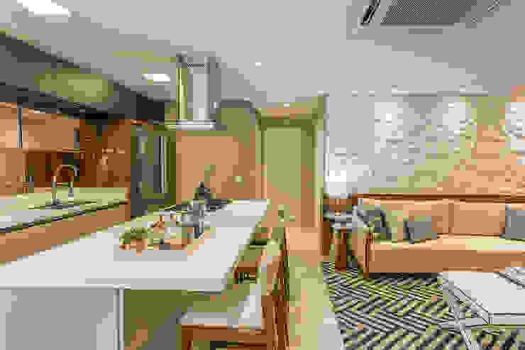Sala de Estar Integrada Salas de estar modernas por Juliana Agner Arquitetura e Interiores Moderno