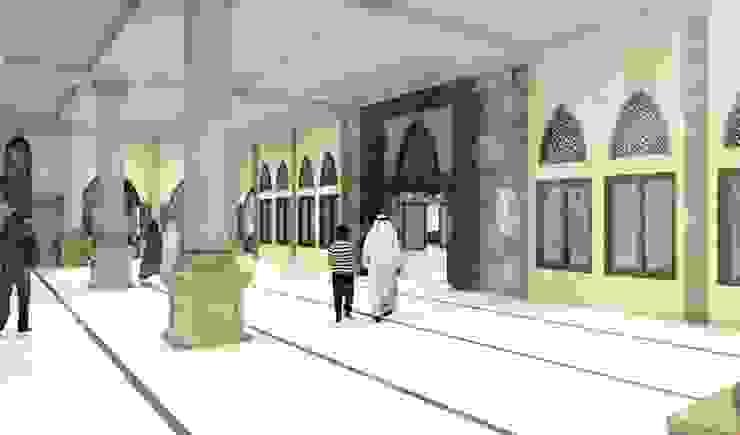 Masjid Raya Persatuan Balkon, Beranda & Teras Gaya Mediteran Oleh Besar Studio Arsitektur Mediteran