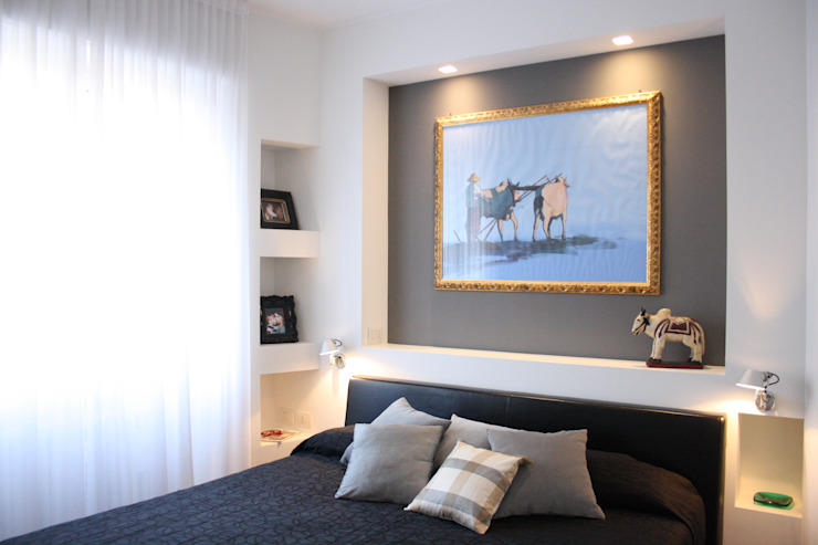 gold&grey studio ferlazzo natoli Camera da letto eclettica