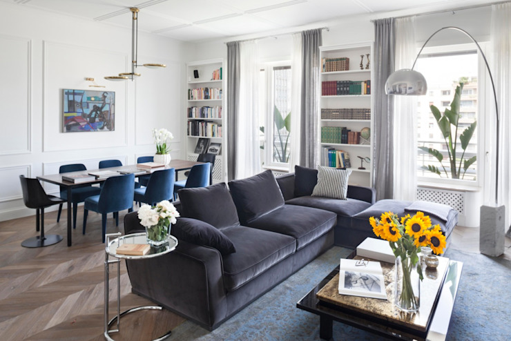 Modern living room by Costa Zanibelli associati Modern لکڑی Wood effect