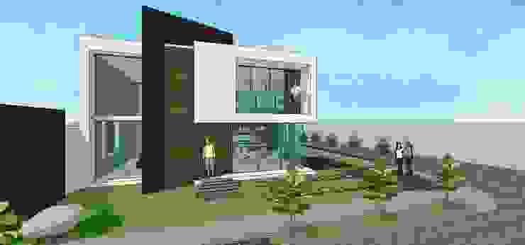 Fachada principal Casas de estilo minimalista de MARATEA estudio Minimalista
