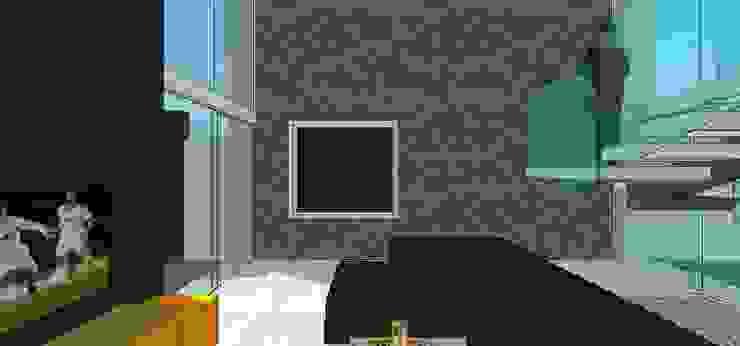Sala Salas de estilo minimalista de MARATEA estudio Minimalista Piedra