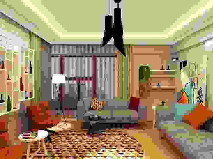 غرفة المعيشة تنفيذ Mozeta Mimarlık, حداثي الخرسانة