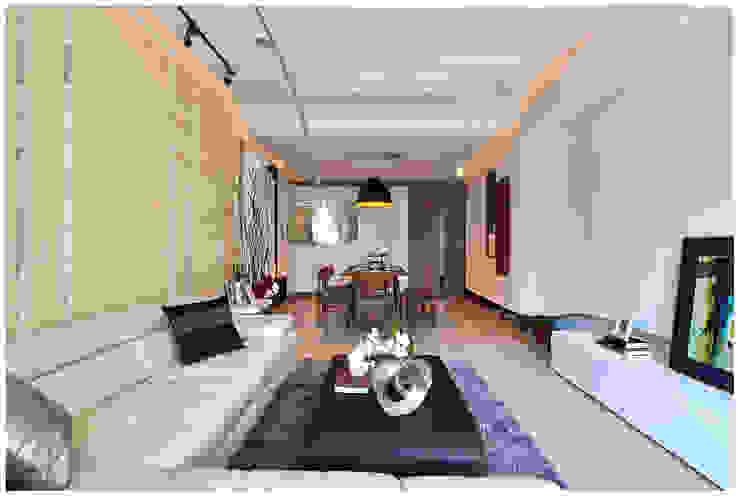 建構 ‧ 線 (住宅設計案 2014) 北歐制作室內設計 现代客厅設計點子、靈感 & 圖片