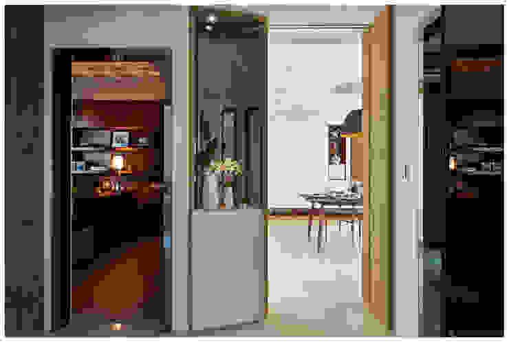 建構 ‧ 線 (住宅設計案 2014) 北歐制作室內設計 現代風玄關、走廊與階梯