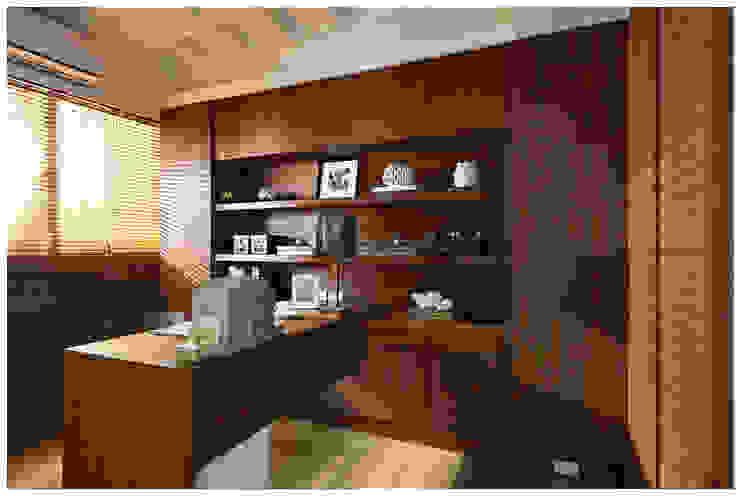 建構 ‧ 線 (住宅設計案 2014) 北歐制作室內設計 書房/辦公室