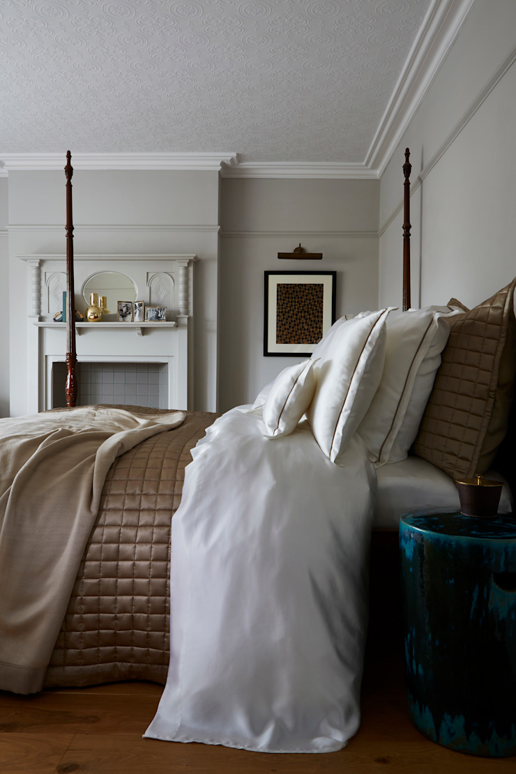 Boston silk bed linen: classic  by Gingerlily, Classic Silk Yellow