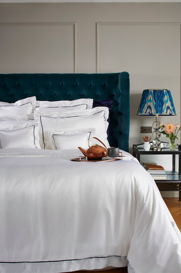 St Tropez silk bed linen: classic  by Gingerlily, Classic Silk Yellow