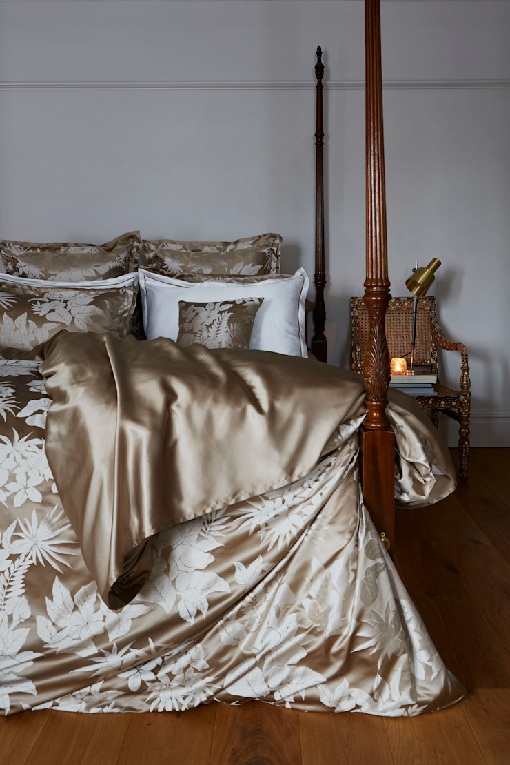Tropical Sand silk bed linen: classic  by Gingerlily, Classic Silk Yellow