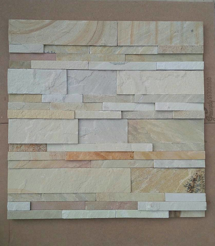 Stone Wall Cladding: asian  by Vaid Exports India Pvt Ltd,Asian Sandstone