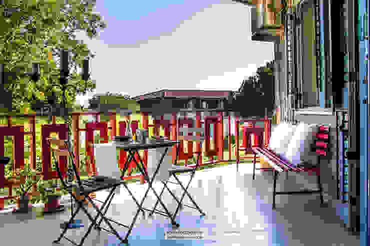 casa GC Balcone, Veranda & Terrazza in stile scandinavo di rosalba barrile architetto Scandinavo