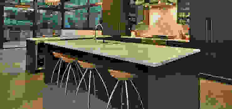 Een granieten keukenblad in moderne keuken. Uw Keukenblad KeukenWerkbladen Graniet Beige