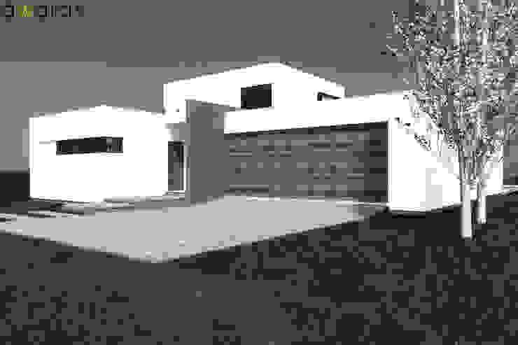 CASA LC | FRENTE NORTE de áwaras arquitectos Moderno