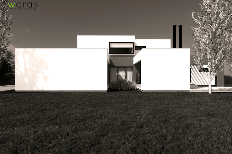 CASA LC | FRENTE OESTE de áwaras arquitectos Moderno