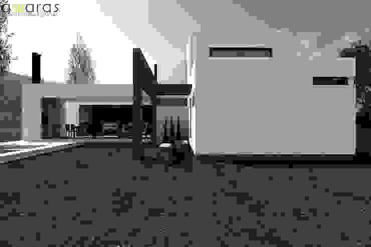 CASA LC | FRENTE SUR de áwaras arquitectos Moderno