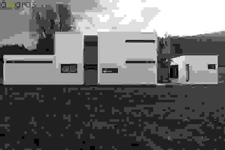 CASA LC | FRENTE ESTE de áwaras arquitectos Moderno