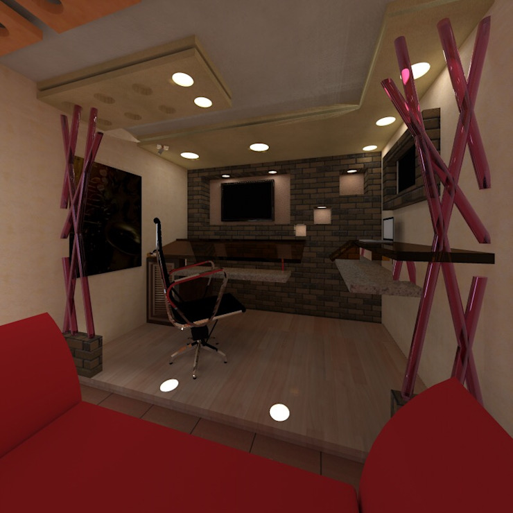 Modern study/office by jdarchiteck sas Modern