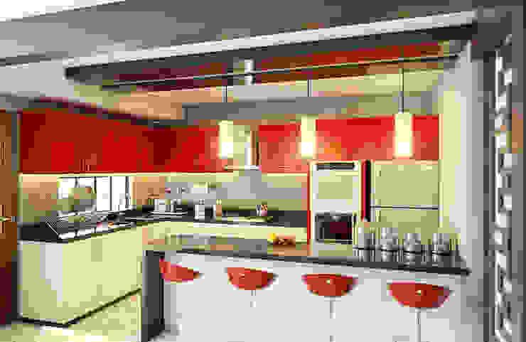 GRUPO ESCALA ARQUITECTOS Modern kitchen