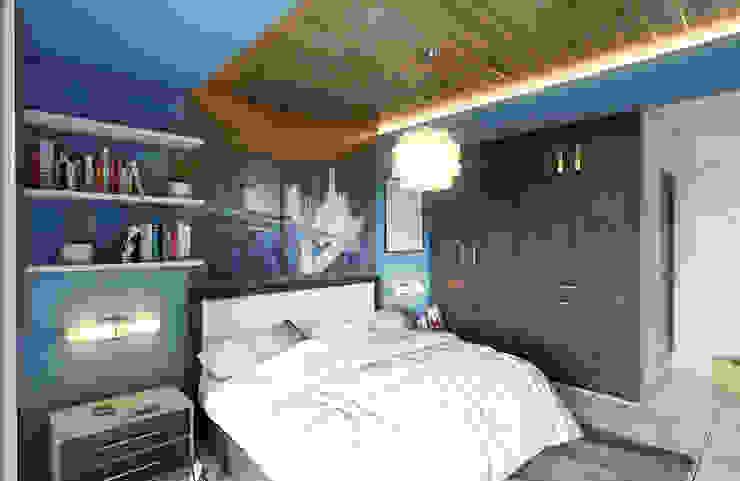Modern style bedroom by GRUPO ESCALA ARQUITECTOS Modern