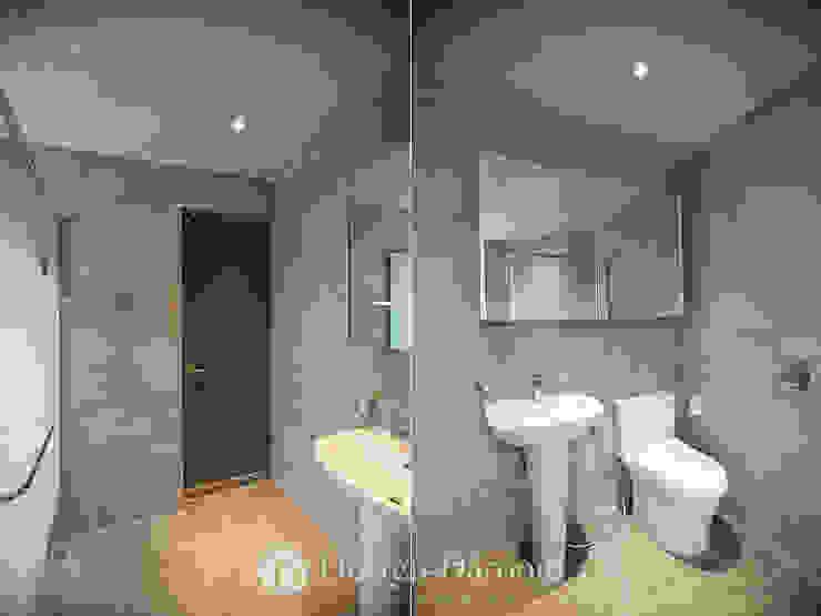 송파 상가건물 내 주거공간 욕실 모던스타일 욕실 by Design Daroom 디자인다룸 모던