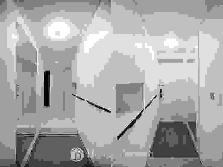 암사동 프라이어팰리스 32평형 현관 모던스타일 복도, 현관 & 계단 by Design Daroom 디자인다룸 모던