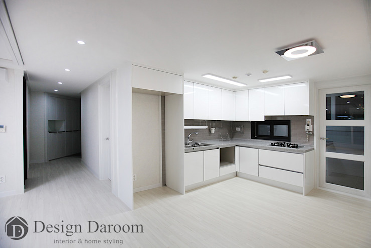 암사동 프라이어팰리스 32평형 주방 모던스타일 주방 by Design Daroom 디자인다룸 모던