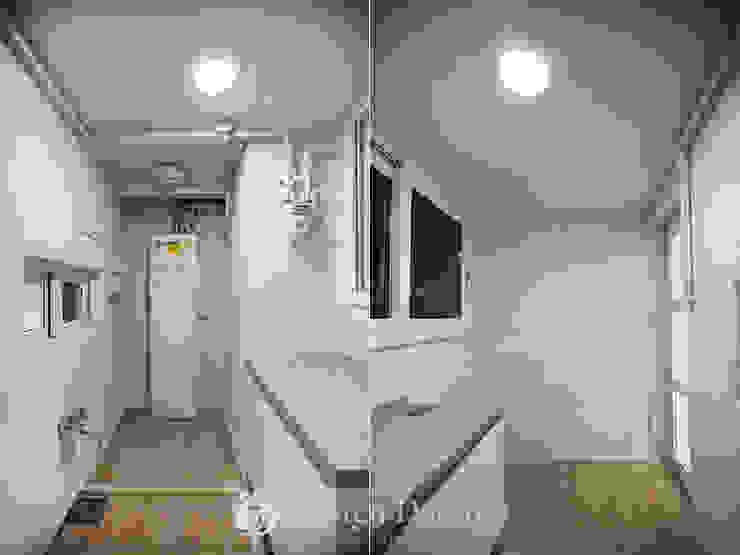 암사동 프라이어팰리스 32평형 보조주방 모던스타일 주방 by Design Daroom 디자인다룸 모던