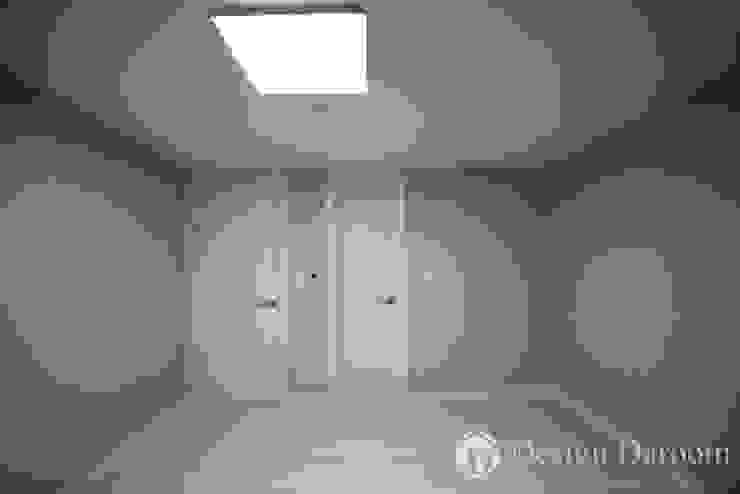 암사동 프라이어팰리스 32평형 안방 모던스타일 침실 by Design Daroom 디자인다룸 모던