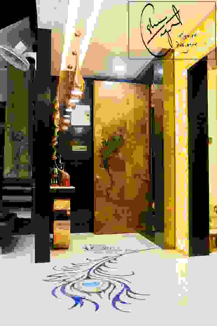 ES Designs Modern corridor, hallway & stairs
