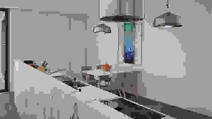 Cozinha-Projecto Esboçosigma, Lda Cozinhas modernas MDF Branco