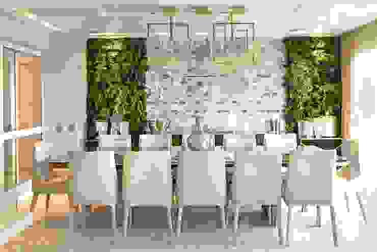 Célia Orlandi por Ato em Arte Eclectic style dining room