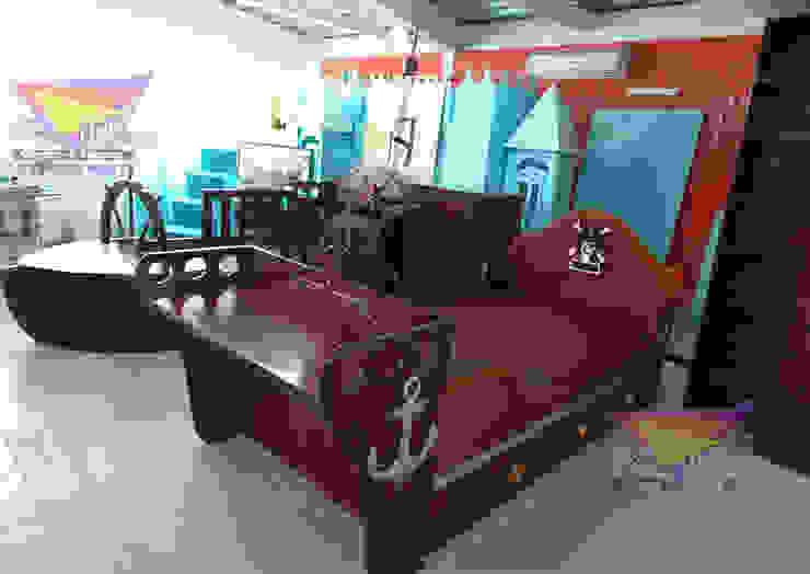 Fabuloso barcos de Kids Wolrd- Recamaras Literas y Muebles para niños Moderno Derivados de madera Transparente
