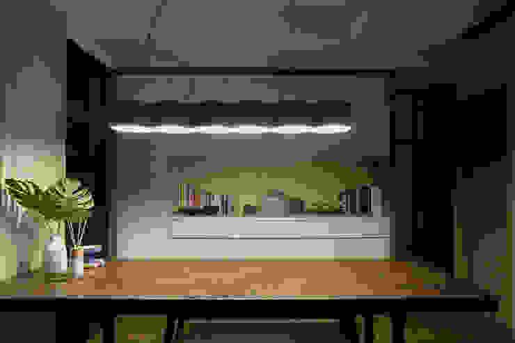 系統與木皮 根據 禾廊室內設計 熱帶風 塑木複合材料