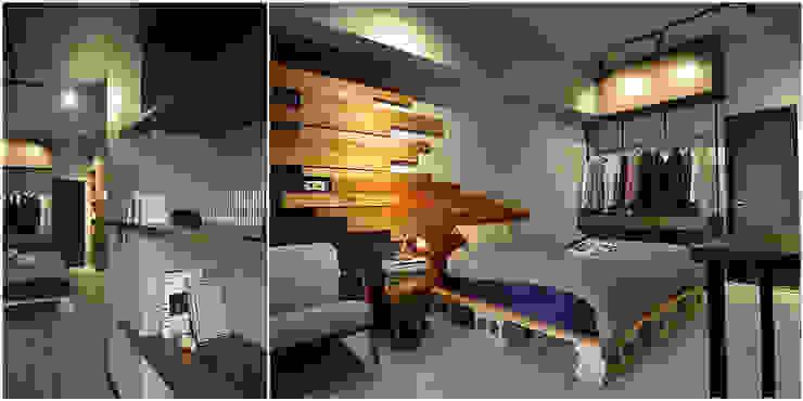 大觀創境空間設計事務所 インダストリアルスタイルの 寝室