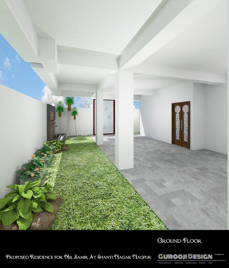 Samir Residence Asian style garden by Gurooji Designs Asian