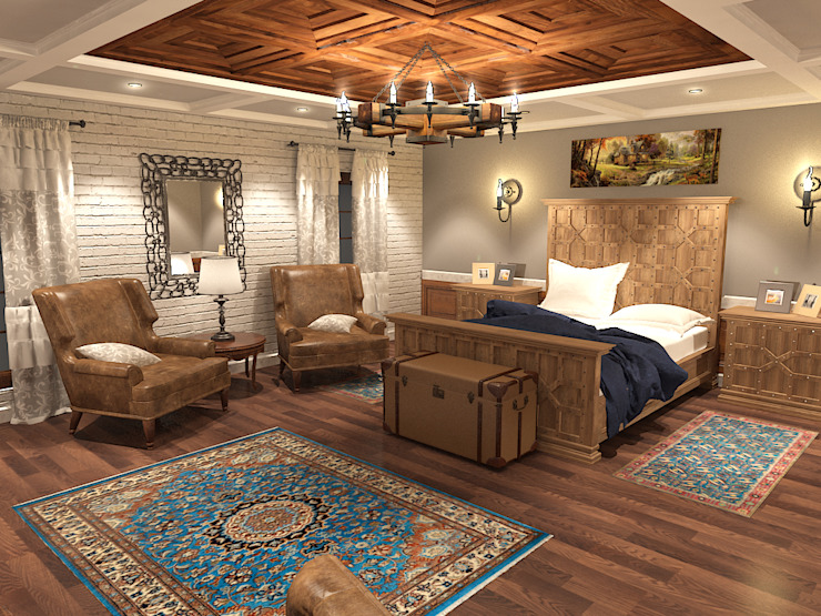 Quattro designs Rustic style bedroom