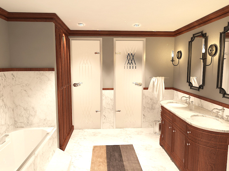 Quattro designs Rustic style bathroom