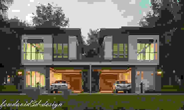 บ้านแฝดสไตลล์โมเดิร์น จ.นครนายก โดย fewdavid3d-design